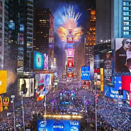 Festa de Reveillon no Times Square