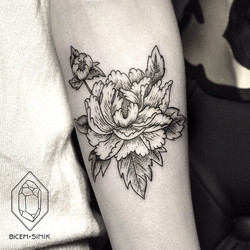Flower-tattoo-on-Ankle-by-BICEM-SINIK