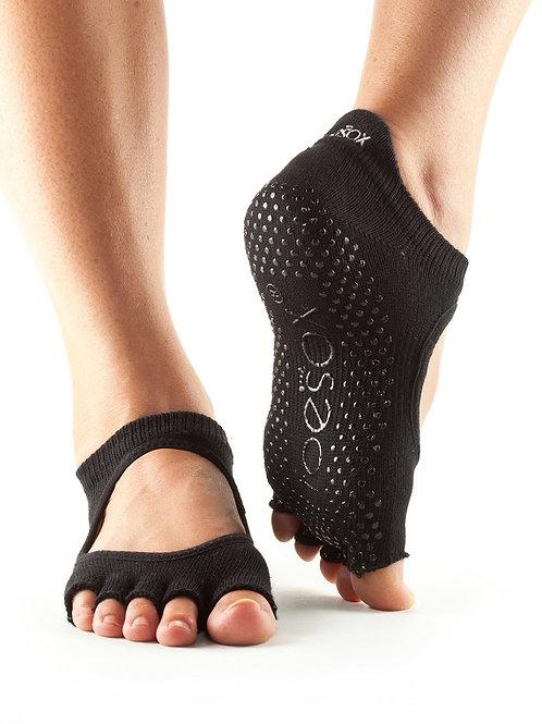 ToeSox  写真  ●Grip Half Toe Bellarina Black Small(足指でるタイプ)
