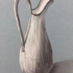 B/W charcoal on toned paper workshop