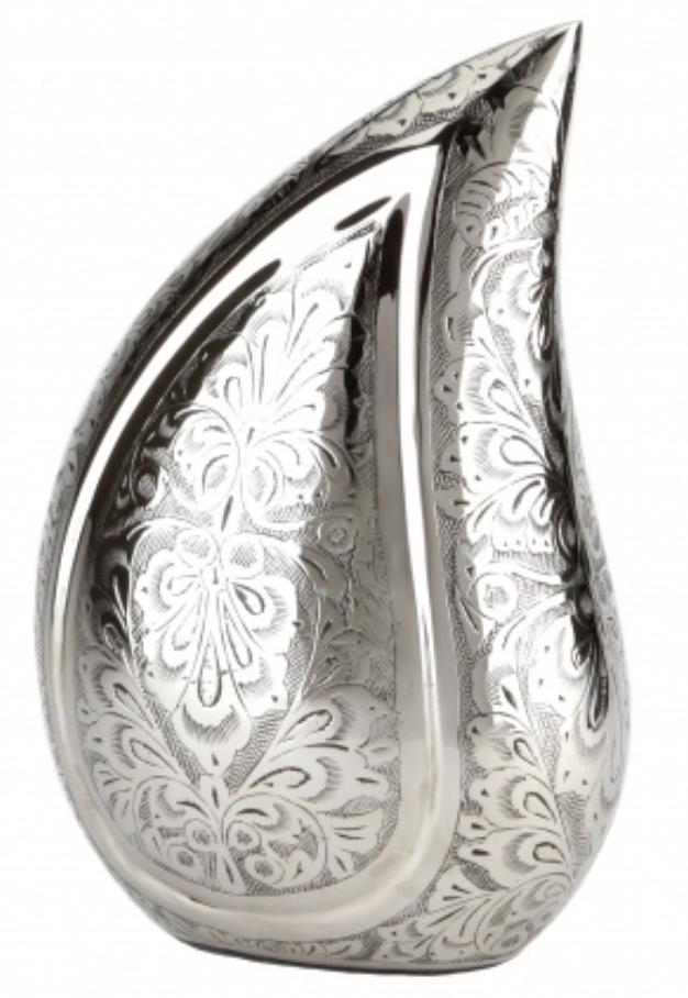Torquay Teardrop Silver Engraved