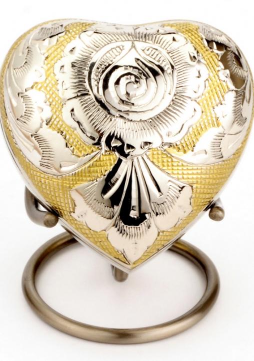 Devon gold and silver heart keepsake
