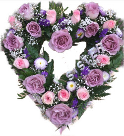 LILAC & PINK OPEN HEART