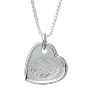 Indented heart pendant for print/engraving