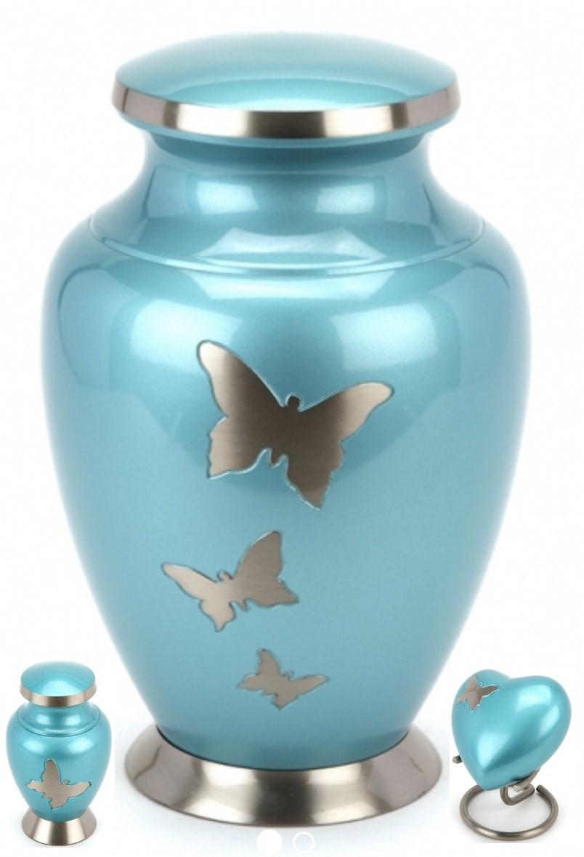 Taplow Teal Butterfly Brass