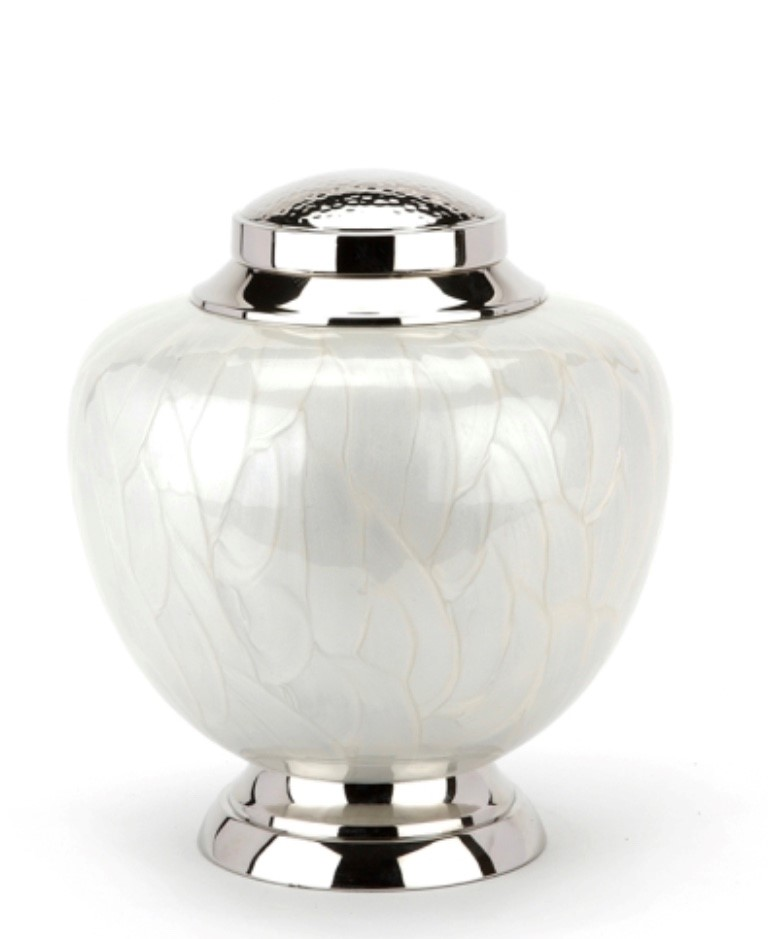 Hyde White Stately Adult Urn