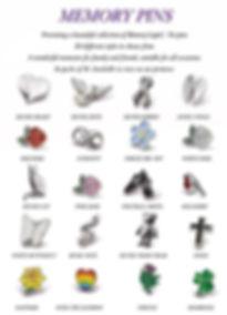 memory pins / Tie pins
