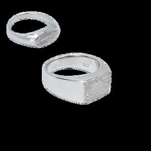 Mens / Womens fingerprint rings. Silver/gold