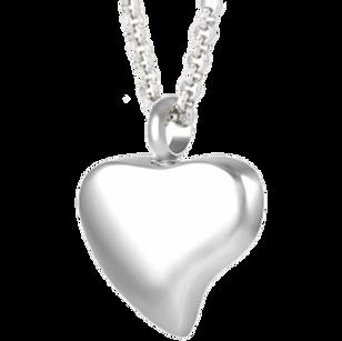 Plain heart for fingerprint or engraving