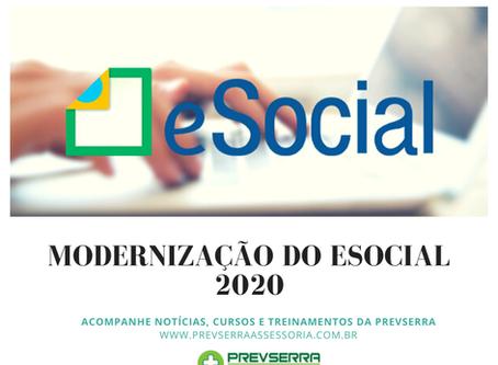 MODERNIZAÇÃO DO ESOCIAL 2020