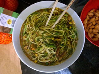 Chinese style! My Raw courgette mushroom noodles