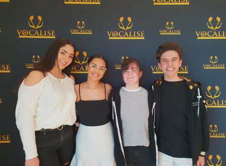 Vocalise Ambassadors celebrate the anniversary of Camden Council's Oran Park Library