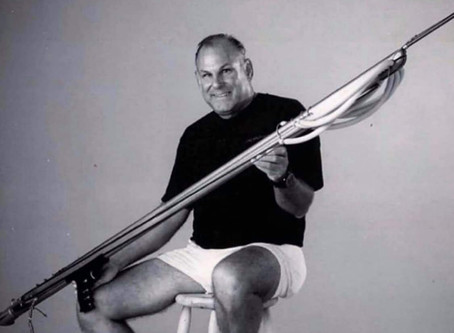 The spearfishing legend, Jay Riffe, has died at the age of 82