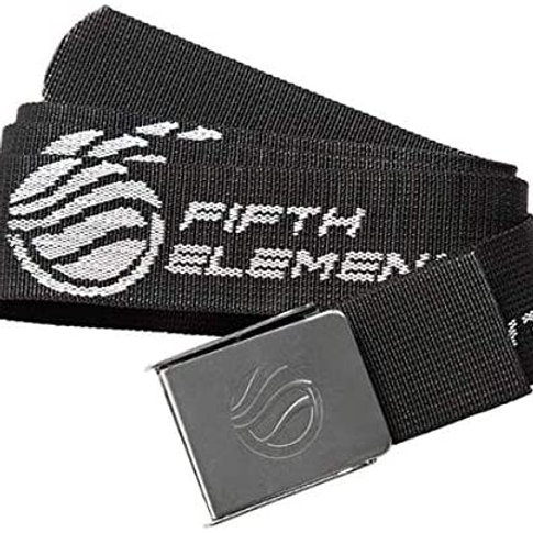 Fifth Element Fabric Belt with White stainless steel buckle