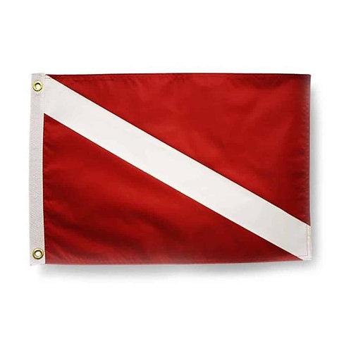 Trident Nylon Dive Flag 20x24 Grommets