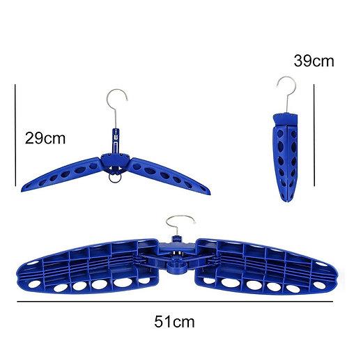 Multipurpose foldable Hanger for Wetsuit (blue)