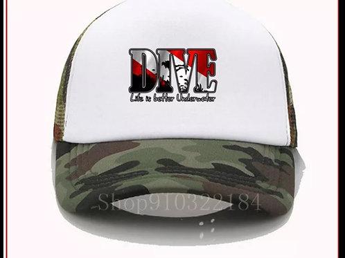 Scuba diving baseball cap