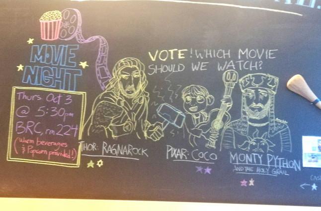 Chalkboard movie night votes - Oct. 1, 2019