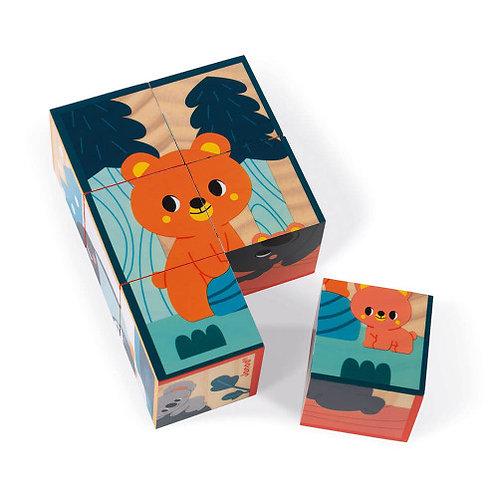Cubes en bois animaux Janod