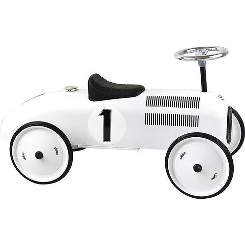 Porteur voiture vintage blanc en métal Vilac