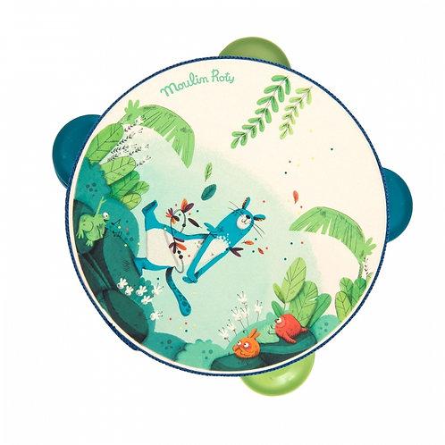 Tambourin bleu Zimba Dansla jungle Moulin Roty