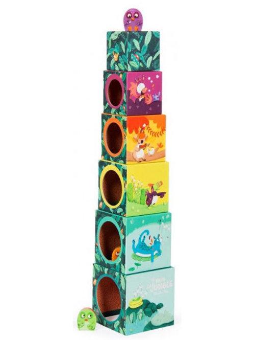 Cubes empilages dans la jungle Moulin Roty