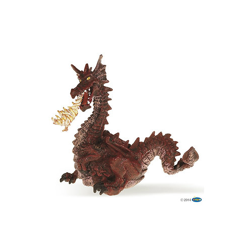 Figurine Dragon rouge avec flamme Papo