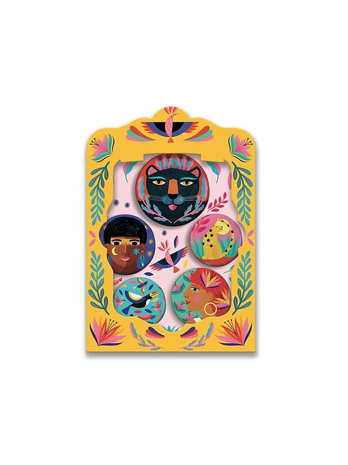 Lovely badges wild Djeco