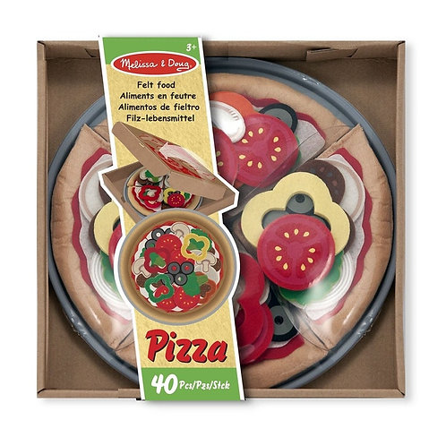 Pizza en feutrine Melissa and doug