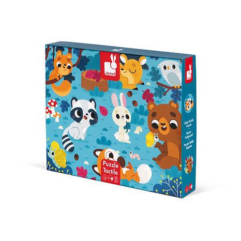 Puzzle tactile les animaux de la forêt 20 pcs Janos