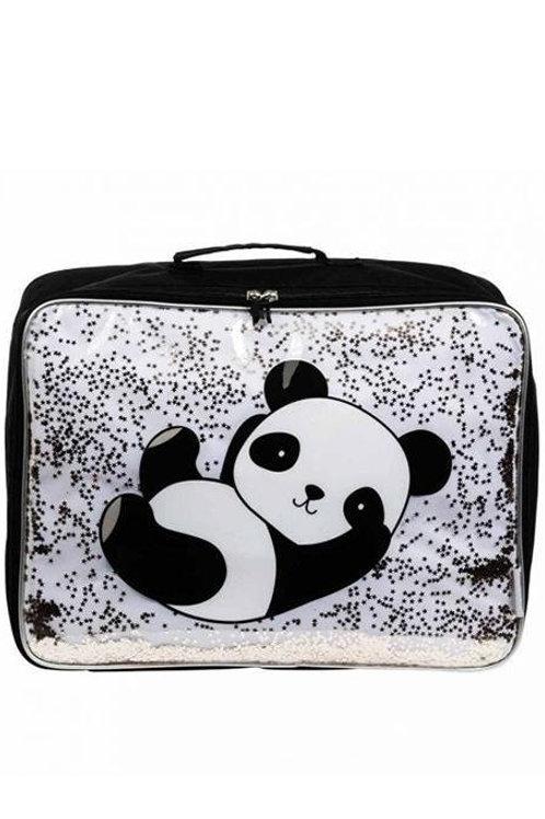 Valise panda paillettes Little lovely company
