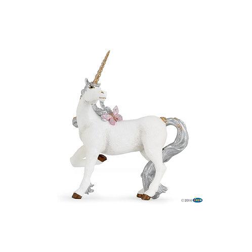 Figurine licorne argentée Papo