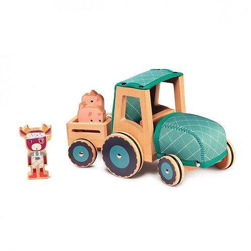 Tracteur en bois et néoprène Lilliputiens