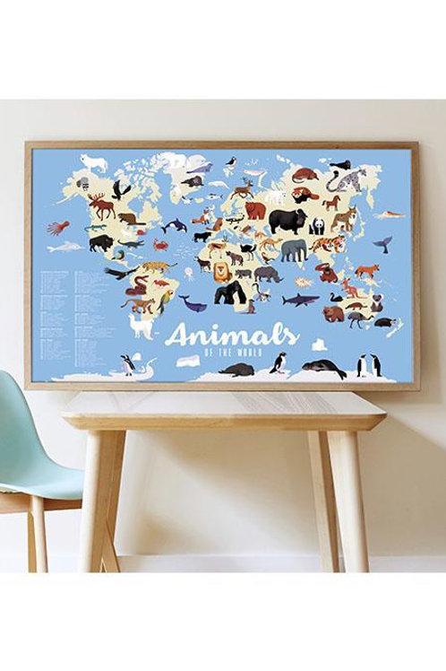 Poster en stickers Animaux du monde