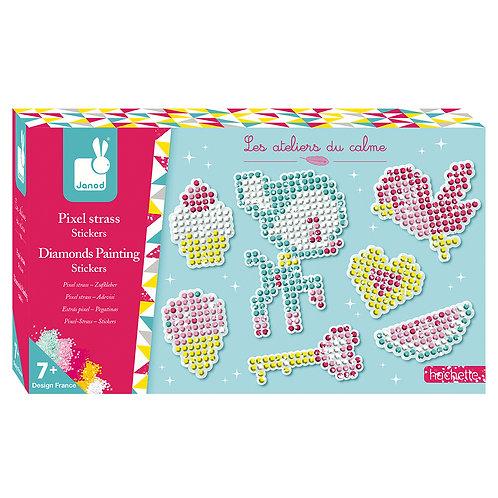 Kit créatif pixel strass stickers