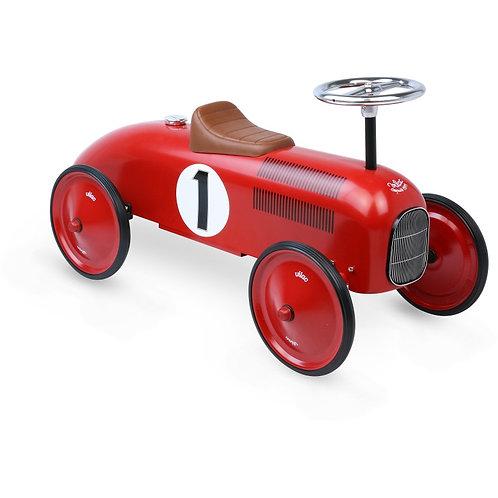 Porteur voiture vintage rouge en métal Vilac