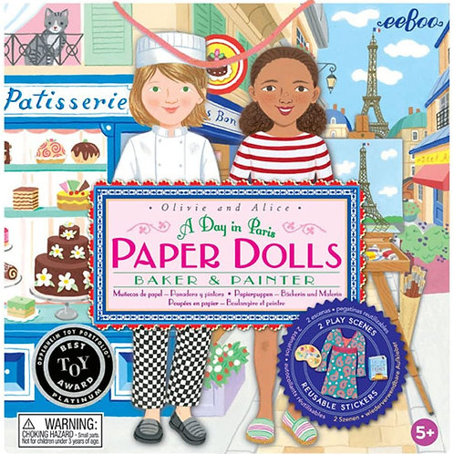 Paper Dolls Un jour à Paris Eeboo