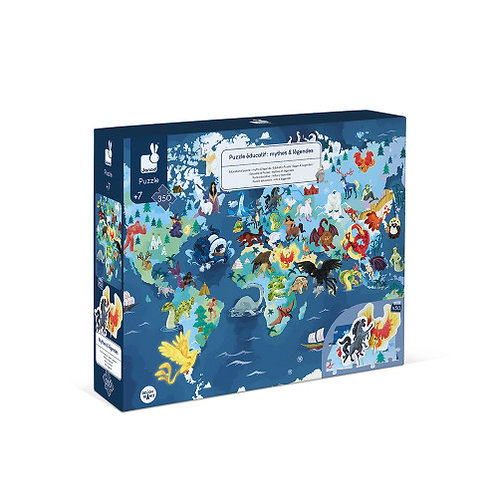 Puzzle éducatif géant Mythes et légendes 350 pièces
