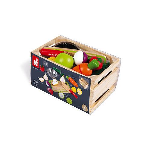 Maxi set - fruits et légumes à couper Janod
