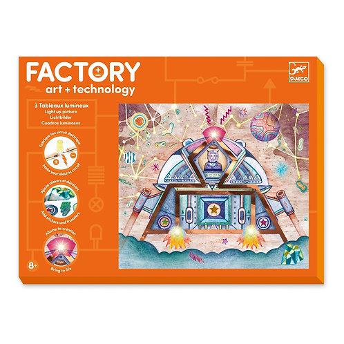 Factory art technology 3 tableaux lumineux