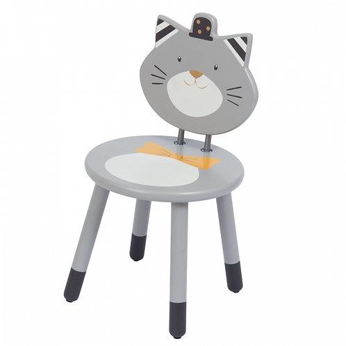 Chaise enfant grise Fernand Les Moustaches Moulin Roty