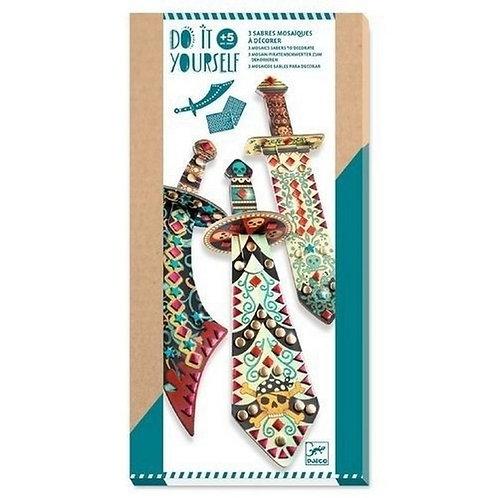 3 sabres à décorer Djeco