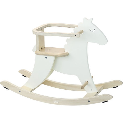 Hudada cheval à bascule blanc ivoire Vilac