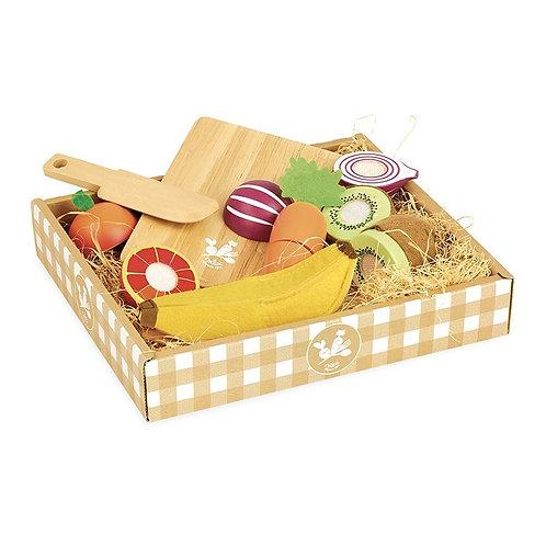 Fruits et légumes à découper Jour de marché Vilac