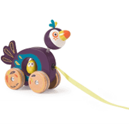 Petit toucan à tirer Dans la jungle Moulin Roty