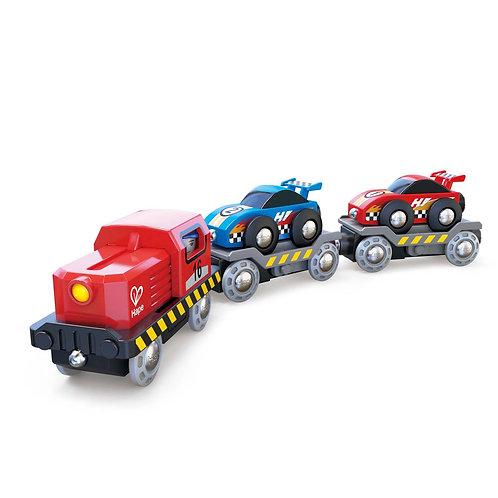 race car transporter Hape