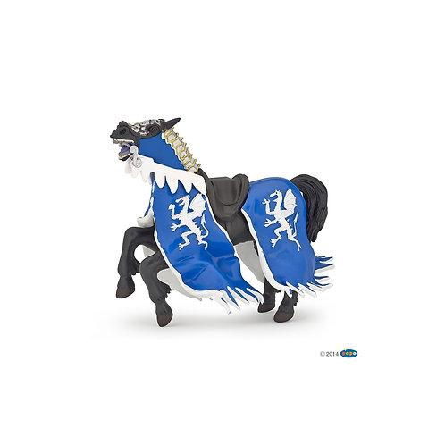 Figurine Cheval du roi au dragon bleu Papo