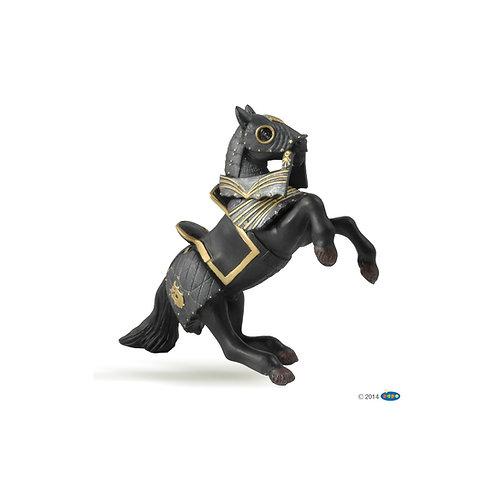 Figurine cheval du Chevalier en armure noire Papo