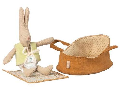 Micro rabbit in carrycot Maileg