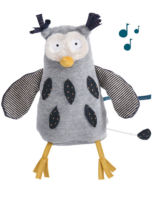 Hibou musical Les moustaches Moulin Roty